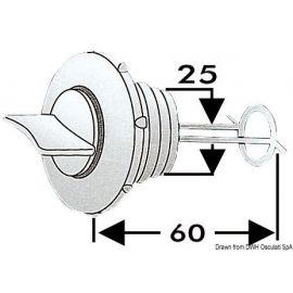 Nable de vidange nylon bouchon imperdable 25mm