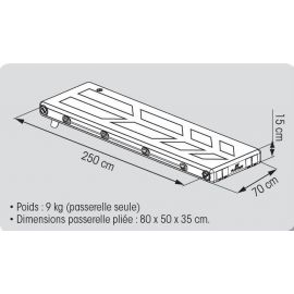 Passerelle gonflable