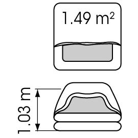 Radeau TRANSOCEAN ISO - sac ou container - moins de 24h