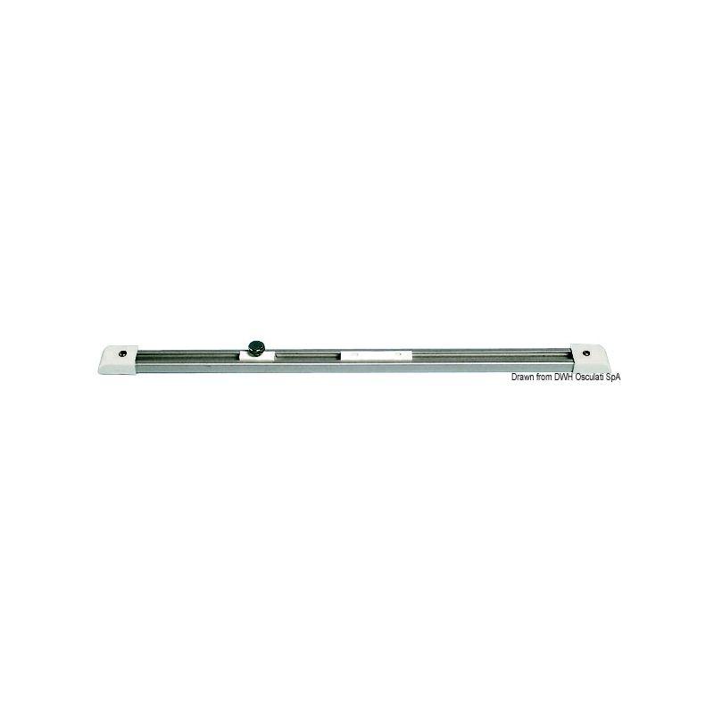 Rail en aluminium et coulisses en nylon - 1 m