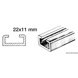 Rail en alu et coulisses en nylon pour bimini aluminium