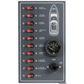 Tableau électrique 10 interrupteurs magnétothermiques