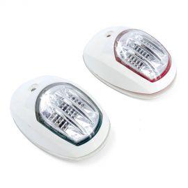 Feu de navigation LED pour paroi - plastique/inox - babord & tribord