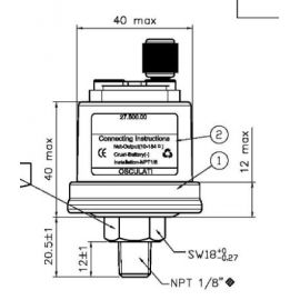 capteur pression d'huile VDO 5 bar