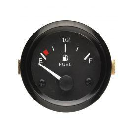 Afficheur niveau de carburant 240-33 Ohms - Ecoline - Ø 52 mm - Fond noir