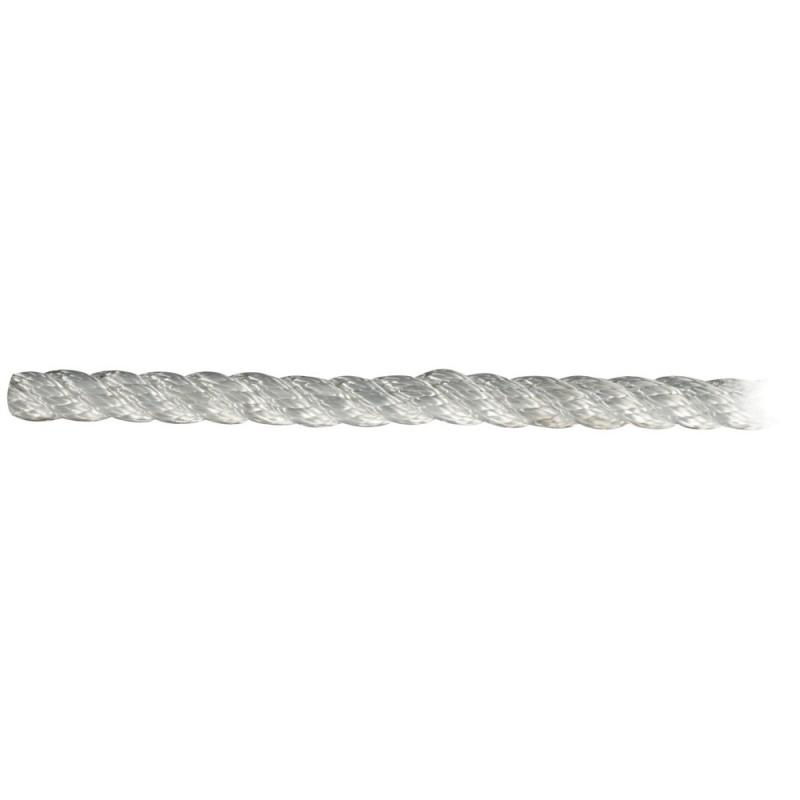 Cordage polyester amarrage 3 torons - blanc - ø6 mm