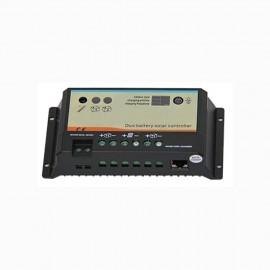 Régulateur de charge pour panneau solaire - capacité 10 A - 12 / 24 v