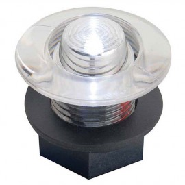 Feu de courtoisie polycarbonate à LED ø38 - 12V - blanc