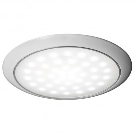 Plafonnier LED ultraplate bague blanche 12/24 V 3 W