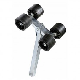 Galet double sur balancier tube de 40 mm