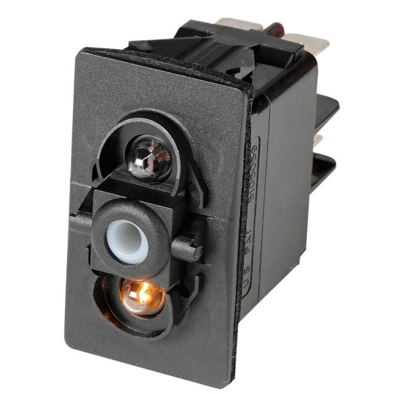 On//Off S28 Interrupteur à Bascule Chromé Levier 12v20a Illuminé Grüne Led