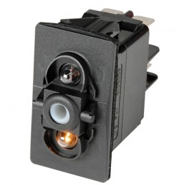 Interrupteur à bascule ON-OFF-ON LED rouge - 24V