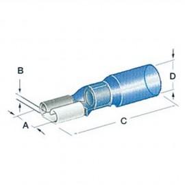 Cosse Faston thermorétractable femelle - 1.2 à 2.5 mm²