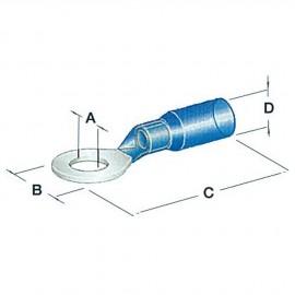 Cosse à oeil thermorétractable 5.3 mm - 1.2 à 2.5 mm²