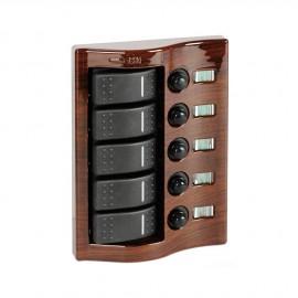 Tableau électrique Carling acajou - 5 inters