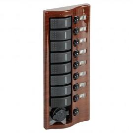Tableau électrique Carling acajou - 9 inters