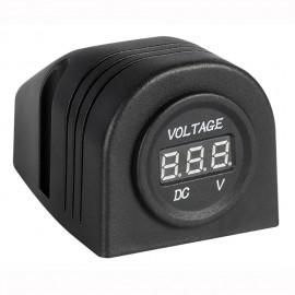 Voltmètre numérique 8/32V, fixation sur plan