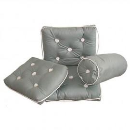 Coussin imperméable en coton gris avec dossier 430x750mm