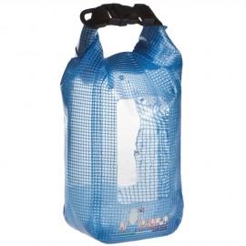Sac bleu ciel transparent étanche et flottant en PVC  - 1 litre - 19x10x7 cm