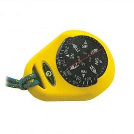 Compas jaune et boitier - bague fixe - 1''7/8