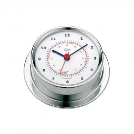 Horloge Sky Boitier inox poli - cadran blanc