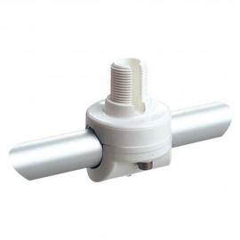 Embase d'antenne VHF nylon - fixe pour balcon tube de 22-25 mm