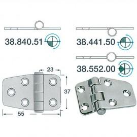 Charnière noeud renversé 55x37 - 2 mm