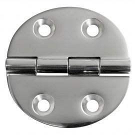 Charnière inox moulée version standard ouverture 180° 65x65 - 4 mm
