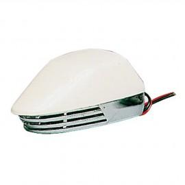 Klaxon avertisseur électrique ABS blanc et chrome