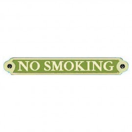 Plaque bronze ''No Smoking''