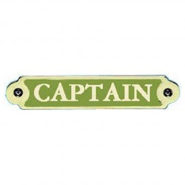 Plaque bronze ''Capitain''