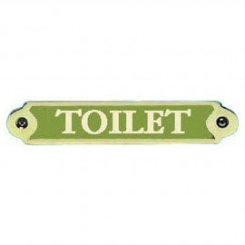 Plaque bronze ''Toilet''