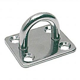 Pontet inox embase rectangulaire 30x35 mm - ø 5 mm