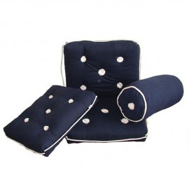 Coussin imperméable en coton bleu simple 430x350 mm
