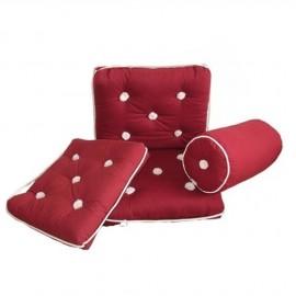 Coussin imperméable en coton bordeaux avec dossier 430x750mm