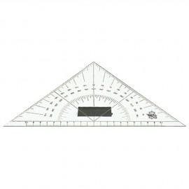 Equerre nautique en plexiglas - double rapporteur d'angles intégré