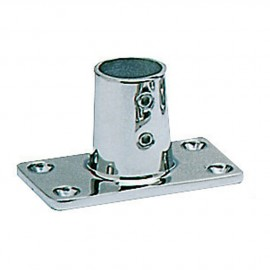 Platine inox rectangle droite 90° - 22 mm