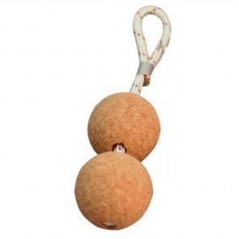 Porte-clés liège deux boules ø50 mm