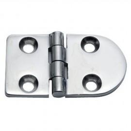 Charnière inox moulée version standard ouverture 180° 70x40 - 4 mm