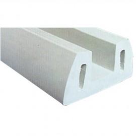 Défense de quai en profilé PVC gris