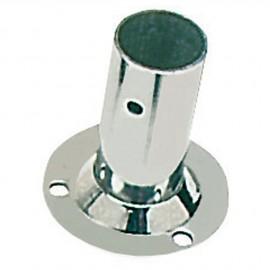 Platine inox soudé ronde droite 90° - 22 mm