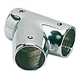 Té laiton chromé inclinée 60° - 22 mm - 2 pièces
