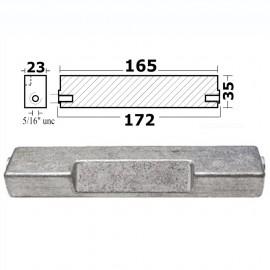 Anode cavalier hors-bord 60/300 HP zinc