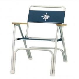 Chaise pliante de cockpit bleue