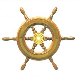 Barre à roue classique - 6 ou 8 branches - Ø 370 mm - avec cerclage laiton