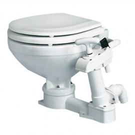 WC manuel super compact bois blanc laqué