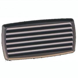 Grille d'aération ABS noire - 201x101 mm