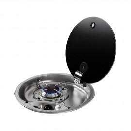 Plan de cuisson couvercle cristal fumé - 1 feux Ø 340 mm