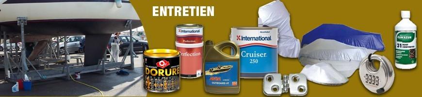 tout pour pour l'entretien et l'hivernage de votre bateau, housses, antifouling, peinture marine, huile moteur, nettoyant cale