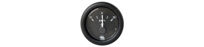 Afficheurs et jauges pour bateaux : Ampèremètre, Horamètre, Voltmètre, Speedomètre, Indicateur de niveau, équipement bateau